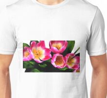 Bunch of pink tulips Unisex T-Shirt