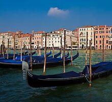 Italy. Venice. Grand Canal. Gondolas. by vadim19