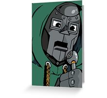 MF DOOM Greeting Card