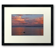 A colourful evening at the Baltic Sea Framed Print
