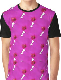 Natural Flowers Series Marine Hot Pink Flowers Graphic T-Shirt