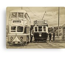 At the tram stop Canvas Print