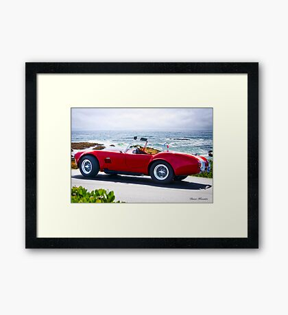1966 Shelby Cobra 'Red Replica' Framed Print