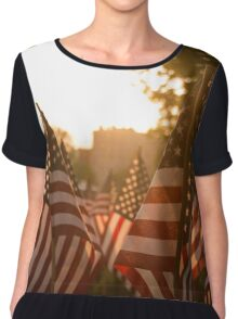 Memorial Day Sunset Chiffon Top