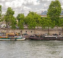 On the Seine River, Paris, France by Elaine Teague