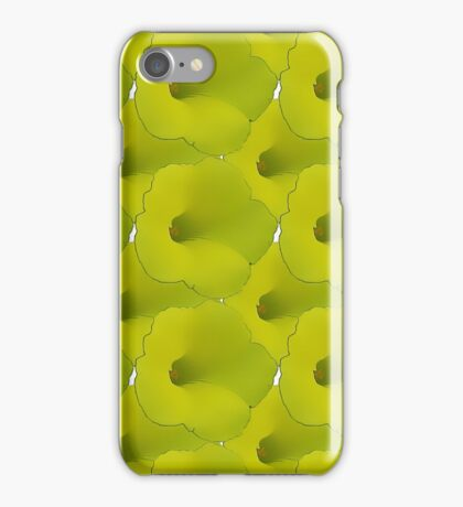Natural Flowers Series - Green Macro Flowers iPhone Case/Skin