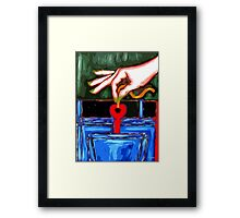 YOU STOLE THE KEY TO MY HEART Framed Print
