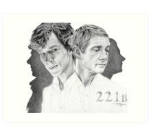 Sherlock & John Art Print