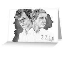 Sherlock & John Greeting Card