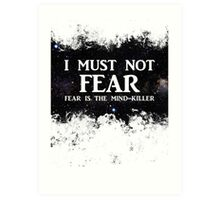 Litany Against Fear Art Print