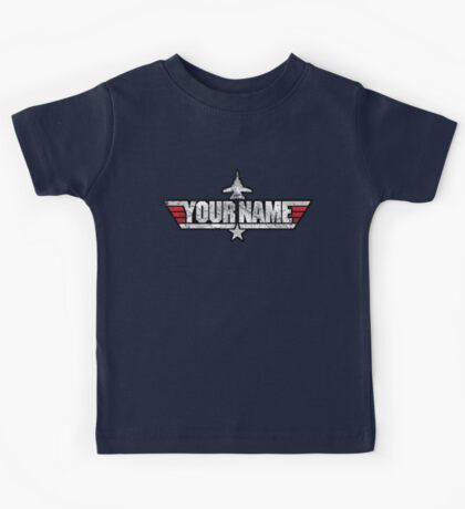 Custom Top Gun Style - DO NOT ORDER -  EXAMPLE ONLY - SEE DESCRIPTION Kids Tee