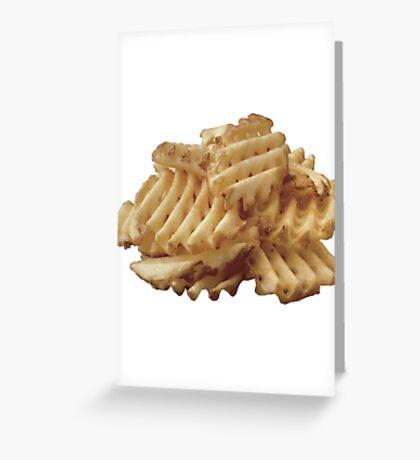 Waffle Fries Greeting Card