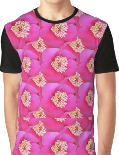 Natural Flowers Series - Hot Pink Graphic T-Shirt