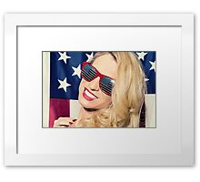 American Blonde Beauty 8842 Framed Print