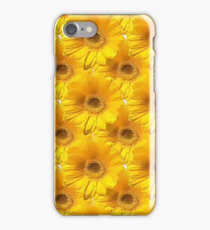 Natural Flowers Series - Yellow & Gold iPhone Case/Skin