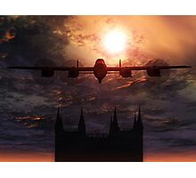 Lancaster Bomber Over Lincoln Cathedral  Photographic Print