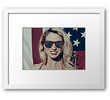 American Blonde Beauty 8935 Framed Print