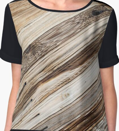Vivid background of boards on a diagonal image Chiffon Top