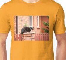 lonely stray black cat  Unisex T-Shirt