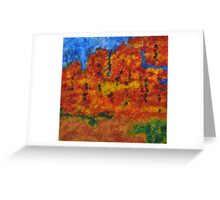 032 Abstract Landscape Greeting Card