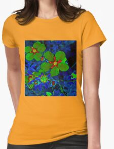 Green Potentilla Womens Fitted T-Shirt