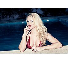 American Blonde Beauty 9156 Photographic Print