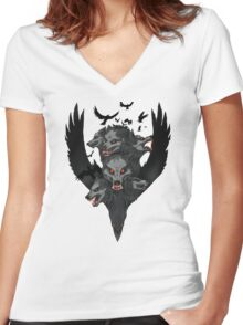 Bloody Murder Women's Fitted V-Neck T-Shirt