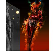Machine Nightmare {Red} [ Fantasy Figure Illustration ] Photographic Print