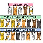 Congratulations on anniversary of remission from cancer. by KateTaylor
