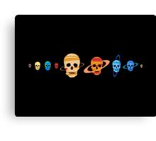 Skull Planets Canvas Print
