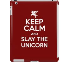 [ Keep Calm ] And Slay the Unicorn iPad Case/Skin