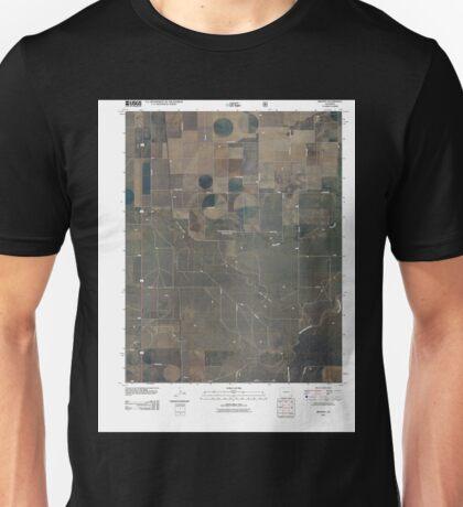 USGS TOPO Map Colorado CO Bisonte 20110209 TM Unisex T-Shirt