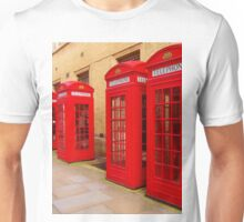 London Telephone Boxes Unisex T-Shirt