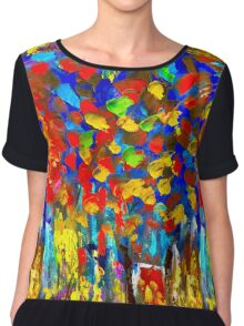 Oil Work Chiffon Top