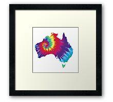 Australia Tie Dye Framed Print