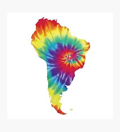 South America- Tie Dye Photographic Print