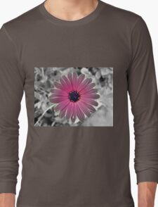 Colorful Gray Flower Long Sleeve T-Shirt