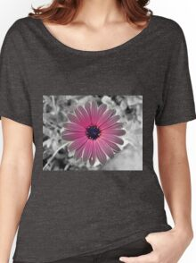 Colorful Gray Flower Women's Relaxed Fit T-Shirt