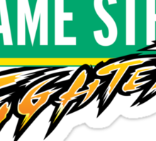 Sesame Street Fighter Sticker