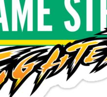 Sesame Street Fighter Sticker