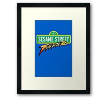 Sesame Street Fighter Framed Print