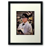 Dr. Who Framed Print