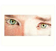 Benedict Cumberbatch's eyes Art Print