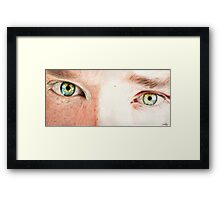 Benedict Cumberbatch's eyes Framed Print