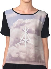 Cloud Form Graphic Design Chiffon Top