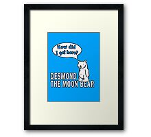 Desmond the Moon Bear Framed Print