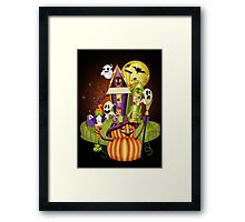 A Ghostly Scene Framed Print