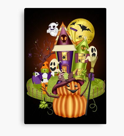 A Ghostly Scene Canvas Print
