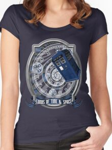 Doctor Who - Time Line Swirl Women's Fitted Scoop T-Shirt
