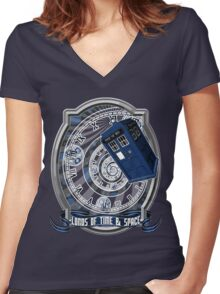 Doctor Who - Time Line Swirl Women's Fitted V-Neck T-Shirt